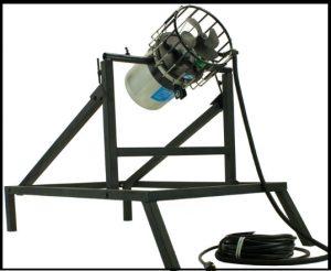 Freestanding Frame winter deicer mounted