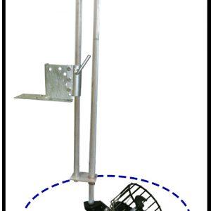 Oscillating De-icer attachment dock mounted